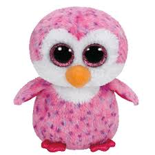 B.BOO GLIDER-PINK PENGUIN 15CM